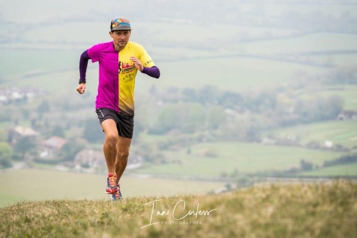 Dan Lawson running in field