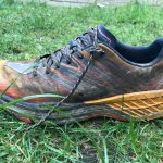 Hoka One One Speedgoat 4 running shoe side view
