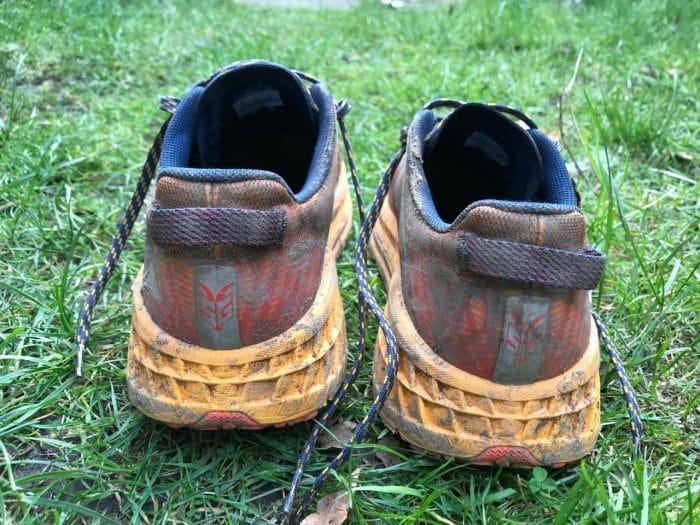 Hoka One One Speedgoat 4 running shoe view of the bottom